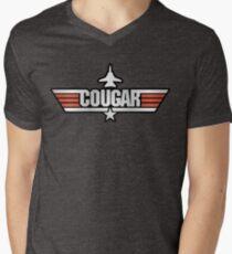 Top Gun Cougar (with Tomcat) Men's V-Neck T-Shirt