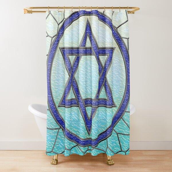 Magen David Adom Logo Shower Curtain