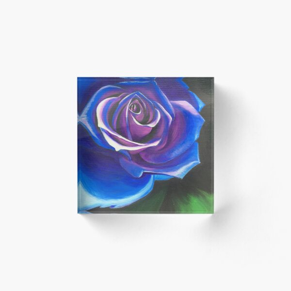 Roses Are Not Always Red Acrylic Block