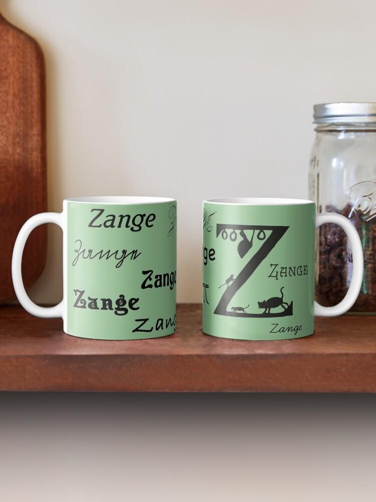 Alternate view of Vintage paper cut alphabet, Z like pliers Mug