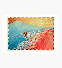 Fish for red herring under marmalade skies Art Print