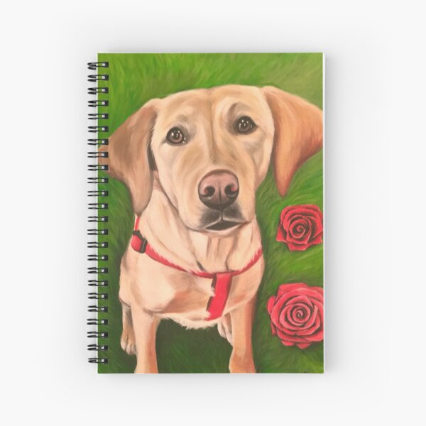 Puppies & Roses  Spiral Notebook