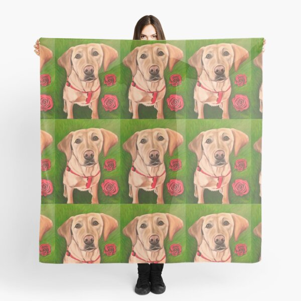 Puppies & Roses  Scarf
