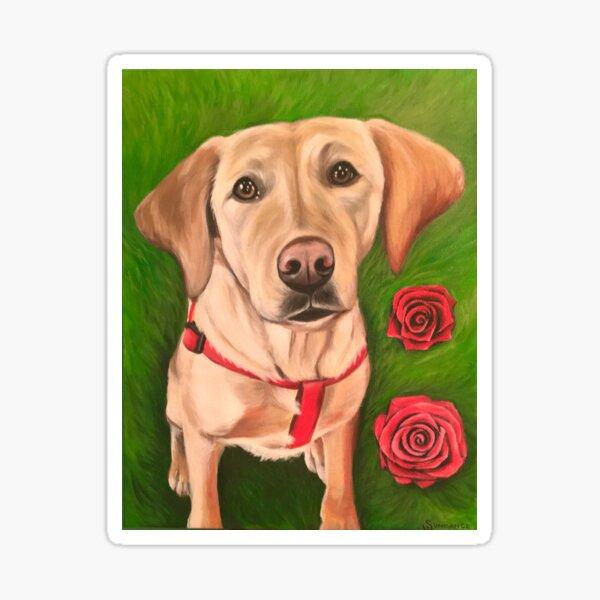 Puppies & Roses  Sticker