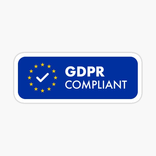 GDPR Compliant Sticker