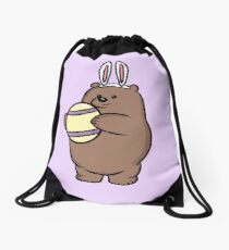 Easter Grizzly - We Bare Bears Drawstring Bag