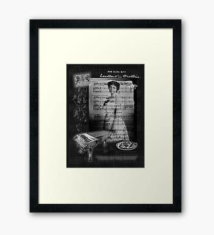 Taking Tea with Clara Butt Framed Print