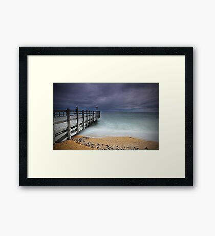 Approaching Storm - Mentone Framed Print