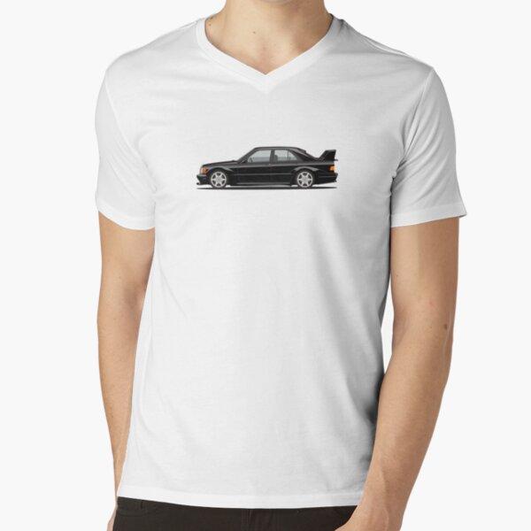 Benz W201 190E EVO II Oldtimer Illustration T-Shirt mit V-Ausschnitt