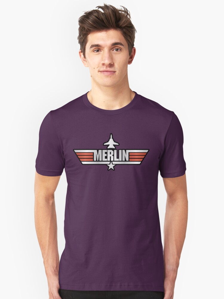 Top Gun Merlin (with Tomcat) Unisex T-Shirt Front