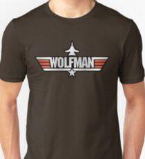Top Gun Wolfman (with F14) Unisex T-Shirt