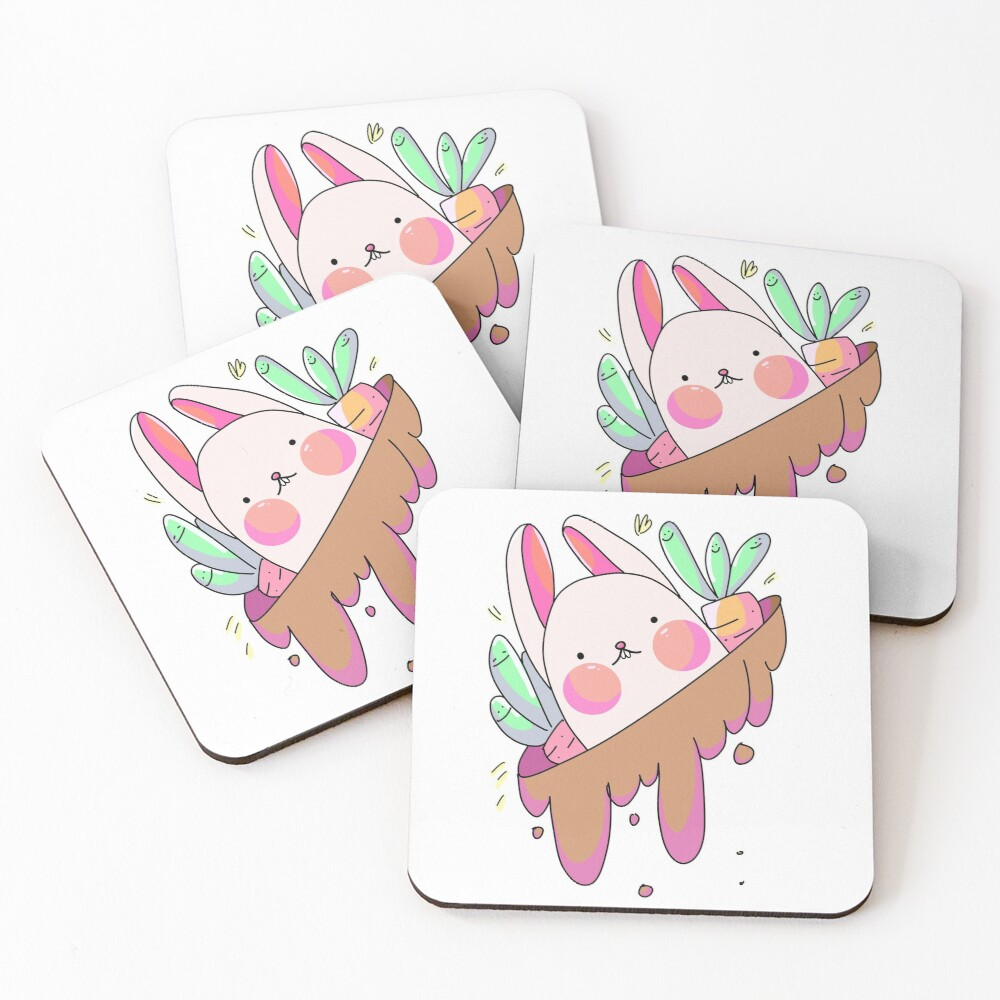Easter Bunny's Home Coasters (Set of 4)