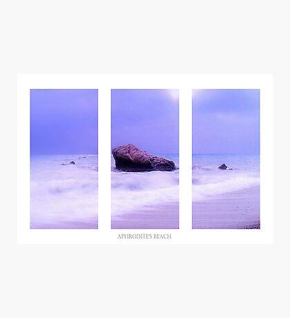 Blue Horizon Triptych Photographic Print