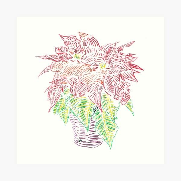 2019 12 31 Potted Plant Color Art Print