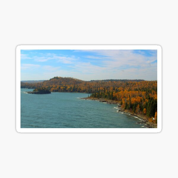 Fall on Lake Superior Sticker