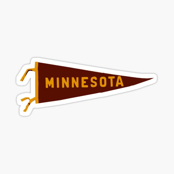 Minnesota Pennant Sticker