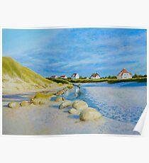 Lokken Beach in Jylland, Denmark in the early evening Poster
