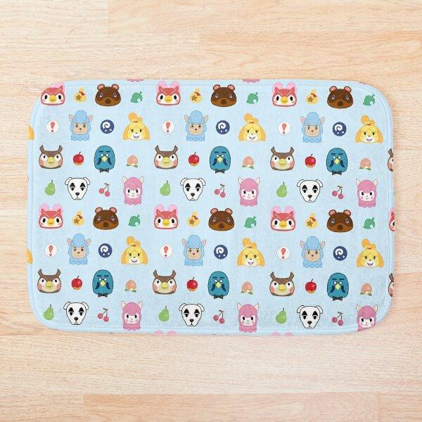 Animal Crossing Pattern Bath Mat