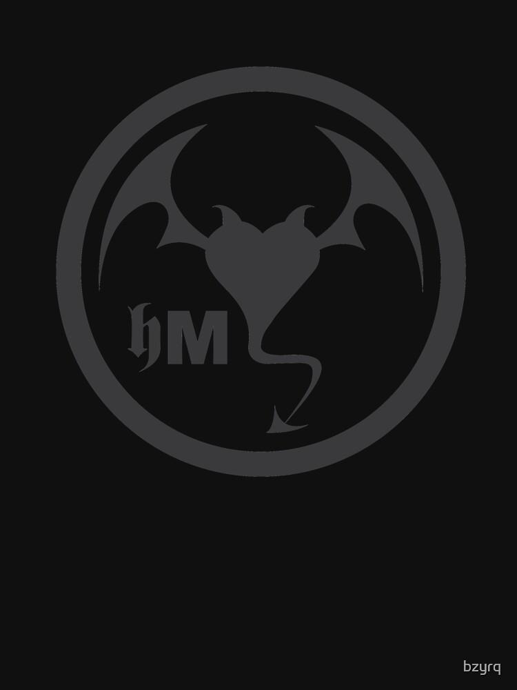 Hollywood Monsters Circle Bat Logo - DARK GREY by bzyrq