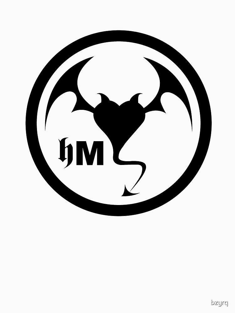 Hollywood Monsters Circle Bat Logo - BLACK PRINT by bzyrq