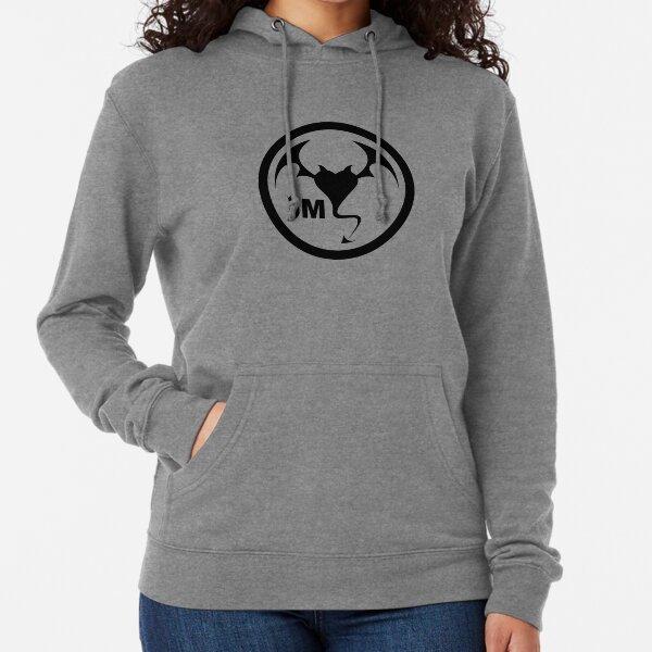 Hollywood Monsters Circle Bat Logo - BLACK PRINT Lightweight Hoodie