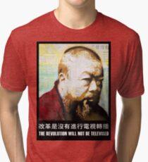 Tribute to Ai Weiwei: 21st Century Revolutionary Tri-blend T-Shirt