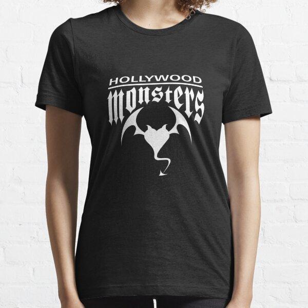 Hollywood Monsters Text Bat Logo - WHITE PRINT Essential T-Shirt