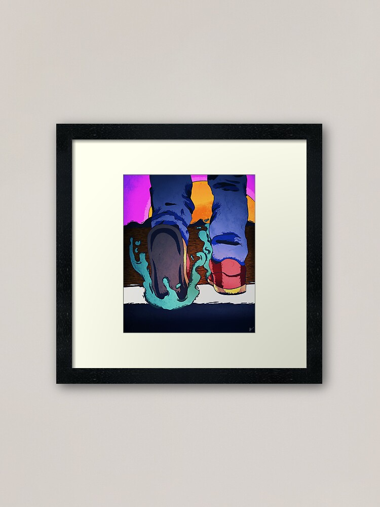 Alternate view of crossing. Framed Art Print