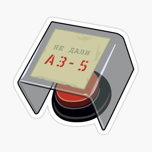 AZ-5 Button ─ 'Chernobyl' Fan Art Sticker