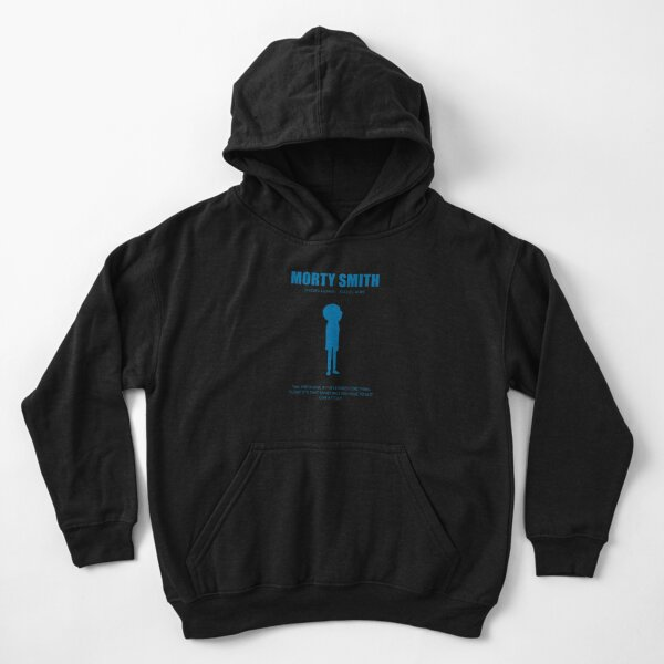 Morty Smith - Blue Kids Pullover Hoodie