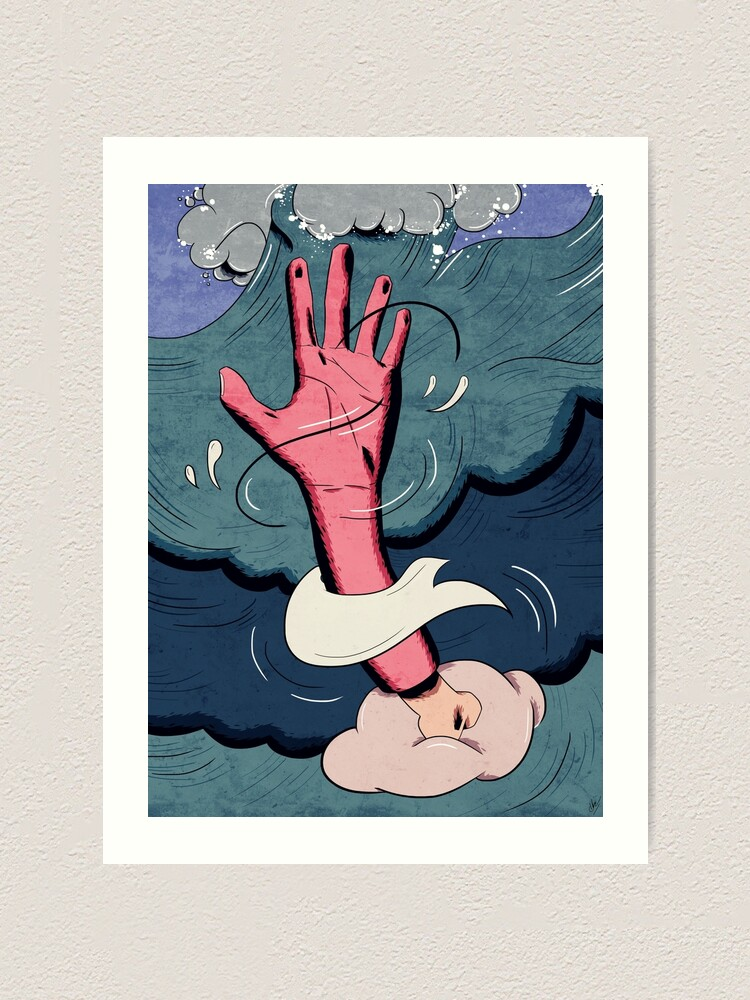 Alternate view of drown. Art Print