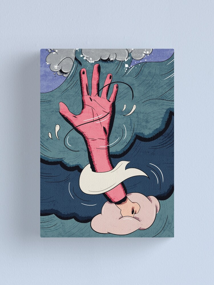 Alternate view of drown. Canvas Print