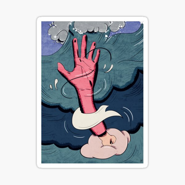 drown. Sticker