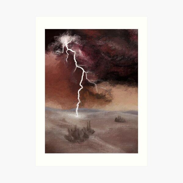 Desert Lightning Art Print