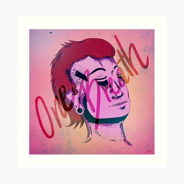 one breath. Art Print