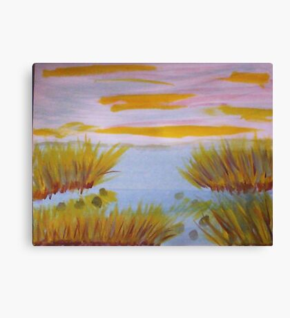 On the edge of the swamp, watercolor Canvas Print