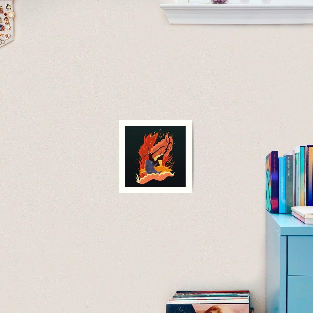 australia burns. Art Print