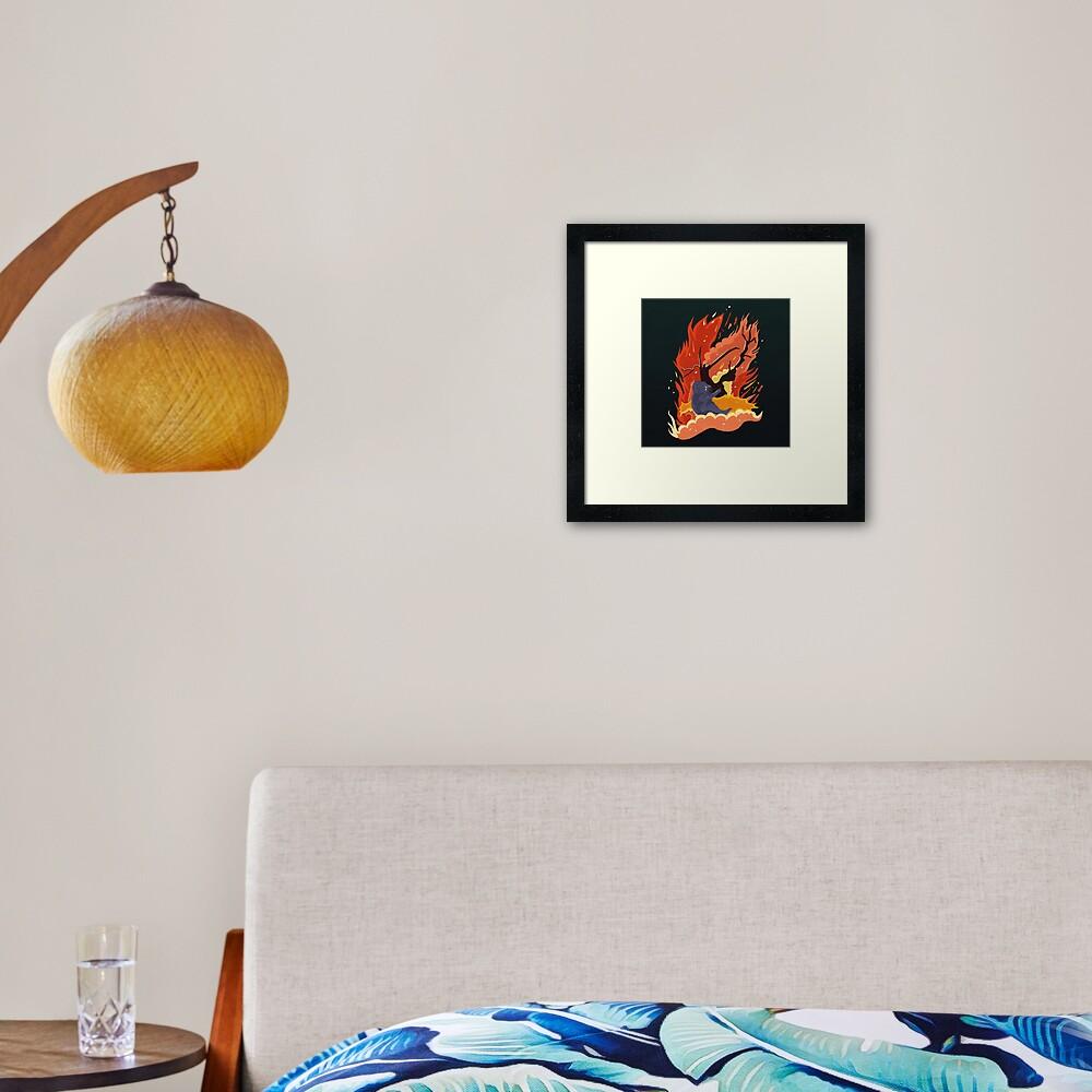 australia burns. Framed Art Print