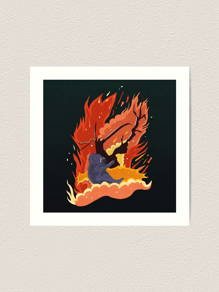 Alternate view of australia burns. Art Print