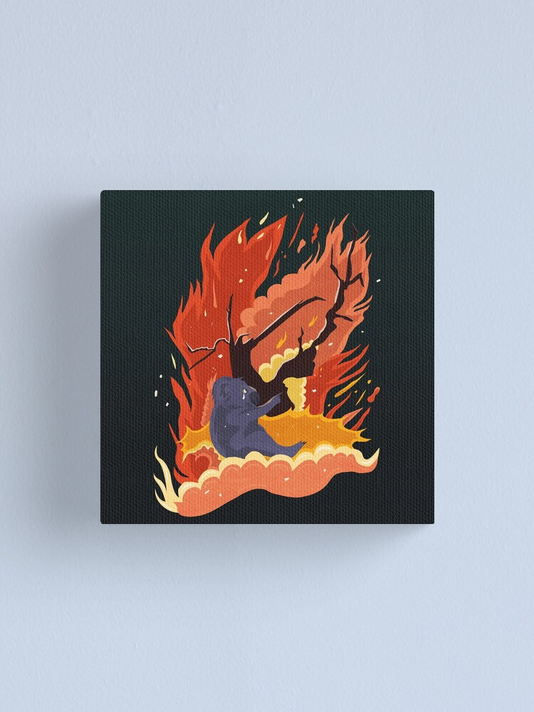 Alternate view of australia burns. Canvas Print