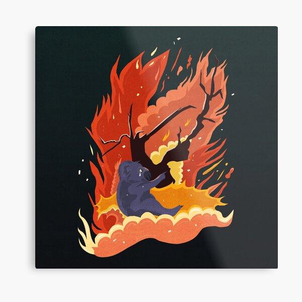 australia burns. Metal Print