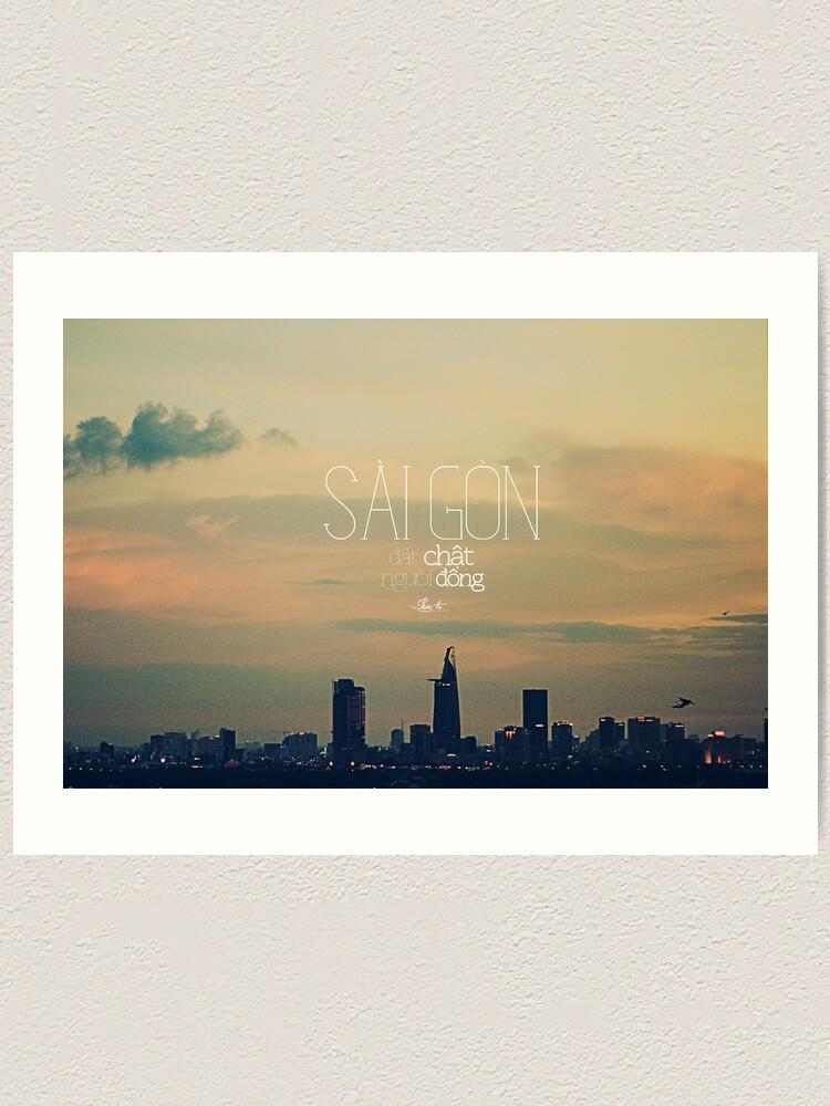 Alternate view of saigon. Art Print