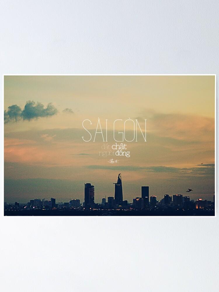 Alternate view of saigon. Poster