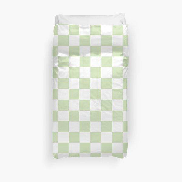pastel green plaid pattern  Duvet Cover