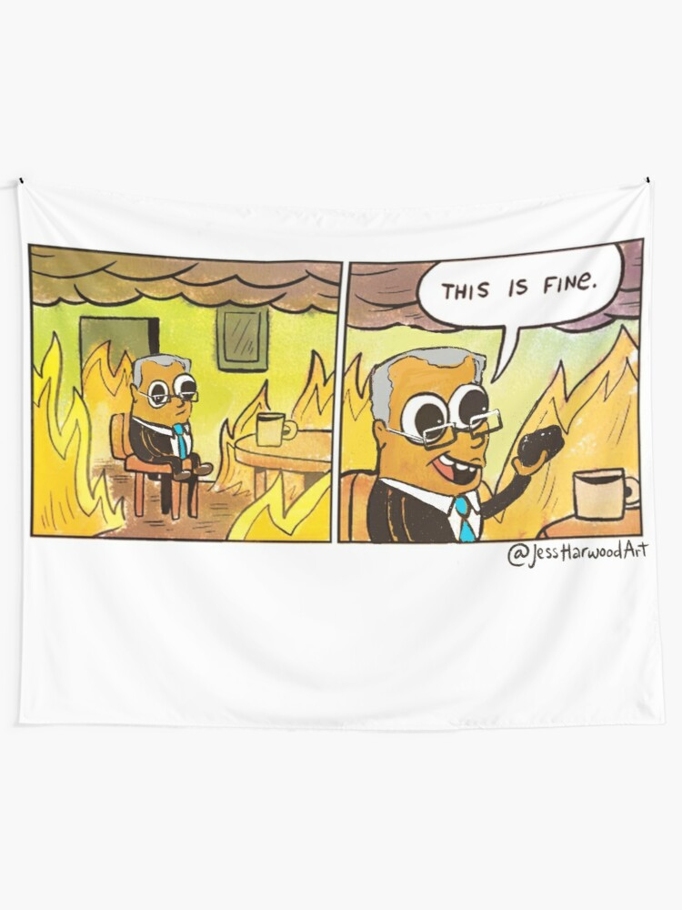 Alternate view of Scotty From Marketing Thinks Coal is Fine by Jess Harwood Art Tapestry
