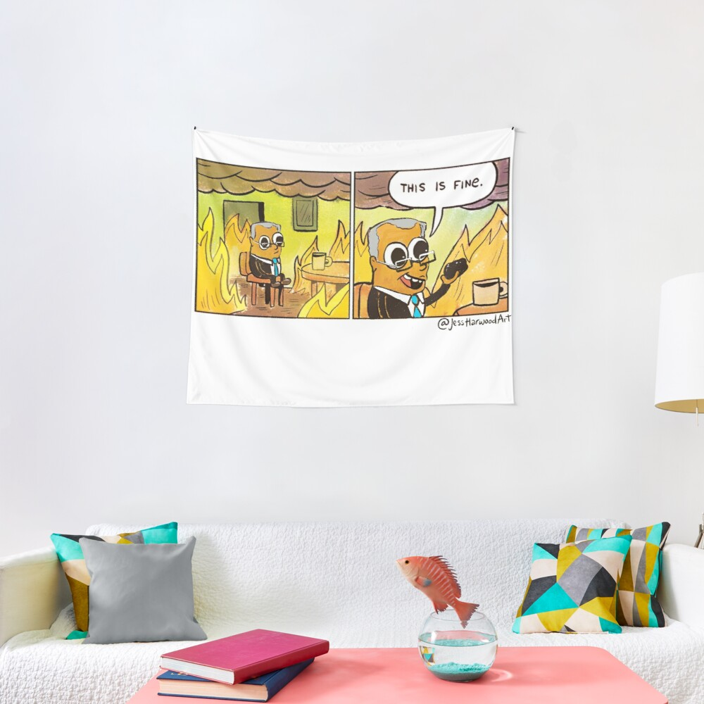 Scotty From Marketing Thinks Coal is Fine by Jess Harwood Art Tapestry