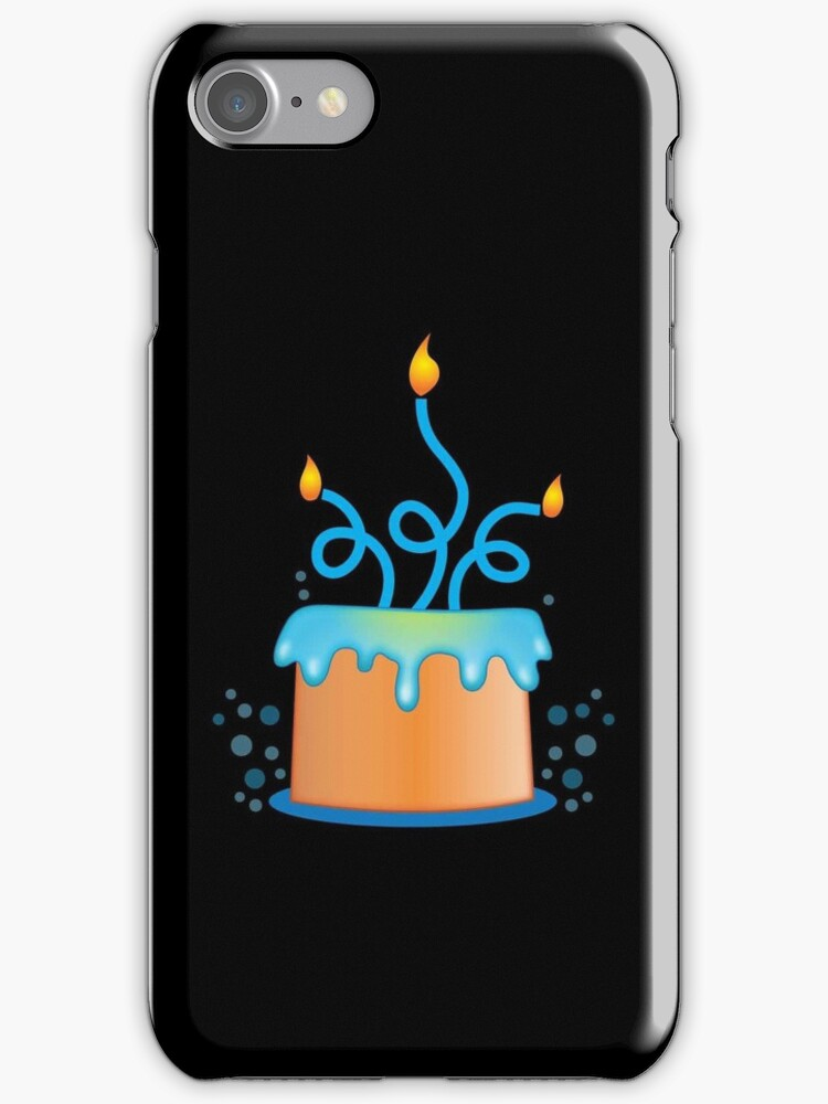 Blue twirly fancy birthday cake by jazzydevil
