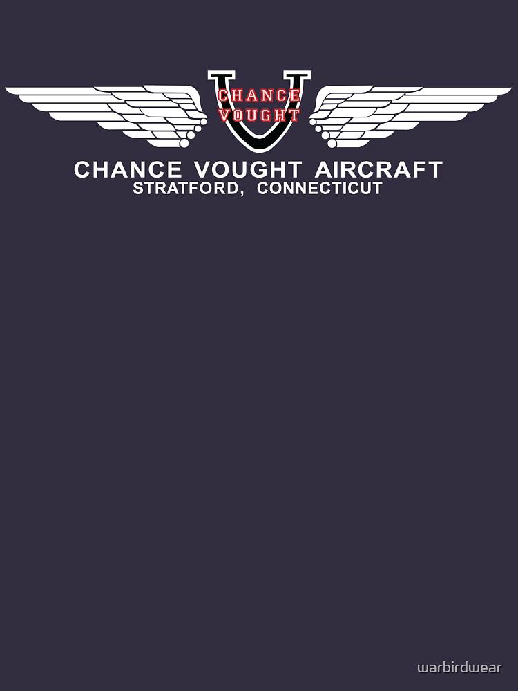 Chance Vought Aircraft Logo (White)  | Unisex T-Shirt