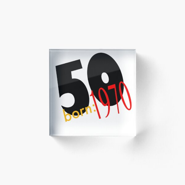 50-1970 - a celebration of 50 years  Acrylic Block