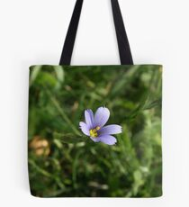 Blue Eyed Grass Tote Bag